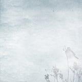 Fond de l'hiver avec le petit oiseau Photo libre de droits