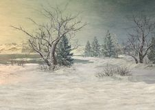Fond de l'hiver d'imagination Photo libre de droits