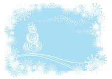 Fond de l'hiver de vecteur Images stock