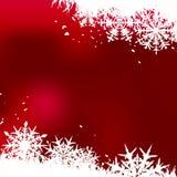Fond de l'hiver, flocons de neige illustration stock