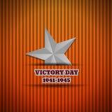 Fond de l'illustration ENV 10 d'étoile d'argent de Victory Day illustration libre de droits