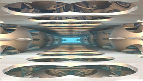 fond de l'imagination 3D des formes étranges Photographie stock libre de droits
