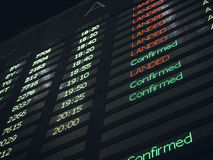 Fond de l'information d'aéroport de conseil de vol Photos stock