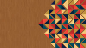 Fond de carte de visite professionnelle de visite de triangles de cru illustration libre de droits