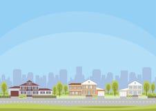 Fond de la communauté de cottage illustration libre de droits