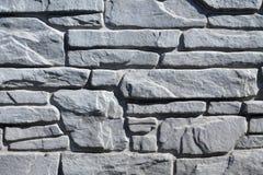 Fond de la maçonnerie en pierre grise Images libres de droits