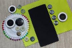 Fond de la matière de boutons Image stock