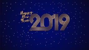 Fond 2019 de la meilleure qualité de bonne année d'illustration de vecteur pour la nouvelle carte de voeux et autre grande concep illustration libre de droits