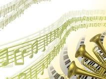 Fond de la musique deux Images libres de droits