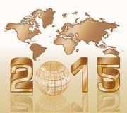 fond de la nouvelle année 2015 Images libres de droits