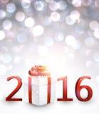 fond de la nouvelle année 2016 illustration de vecteur