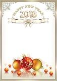 Fond de la nouvelle année 2018 Photo libre de droits