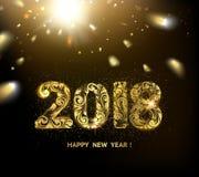 Fond de la nouvelle année 2018 Illustration Stock