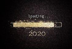Fond de la nouvelle année 2020 avec la barre de chargement photos libres de droits