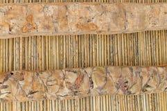 Fond de la paille sèche attachée par des amorçages Photo stock