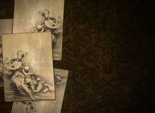 Fond de la Renaissance de cru avec des feuilles graphiques illustration de vecteur