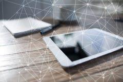 Fond de la sphère 3D de réseau de vol Technologie d'affaires et concept d'Internet Interface moderne d'écran virtuel Photographie stock libre de droits