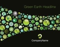 Fond de la terre verte Images libres de droits