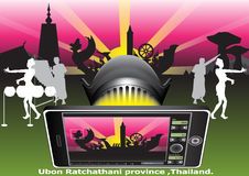 Fond de la Thaïlande de festival de cire illustration libre de droits