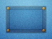 Fond de label de jeans Photo libre de droits