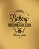 Fond de label de pain de vintage de boulangerie Images libres de droits