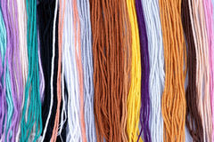 Fond de laine coloré de filé Images stock