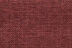 Fond de laine tricoté rouge foncé avec un modèle de tissu mou et laineux Texture de plan rapproché de textile Photo libre de droits