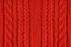 Fond de laine tricoté, texture rouge Images libres de droits