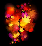 Fond de lames d'automne illustration de vecteur