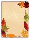 Fond de lames d'automne Images libres de droits
