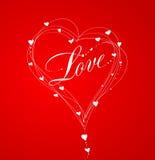 Fond de lettrage de Saint-Valentin Images libres de droits