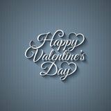 Fond de lettrage de vintage de jour de valentines Photographie stock libre de droits
