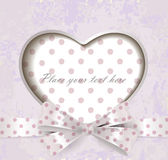Fond de lettrage de vintage de jour de valentines Image stock