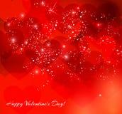 Fond de lettrage de vintage de jour de valentines Images libres de droits