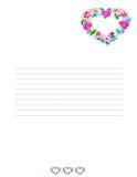 Fond de lettre d'amour. Illustration Libre de Droits