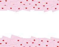 Fond de lettre d'amour Image stock