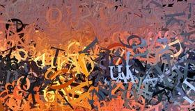 Fond de lettres Image libre de droits