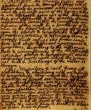 Fond de lettres de manuscrit de cru image libre de droits