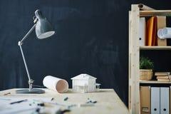 Fond de lieu de travail de concepteurs Photographie stock libre de droits