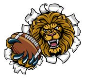 Fond de Lion American Football Ball Breaking illustration libre de droits