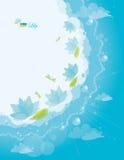 Fond de lis d'eau Images stock