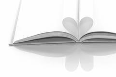 Fond de livre de coeur Image stock