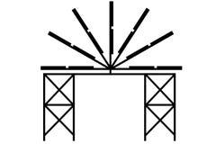 Fond de logo de poteau de lampe d'art illustration libre de droits