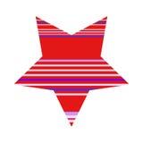 Fond de Logo Template Isolated On White d'étoile barré par vecteur Photos libres de droits
