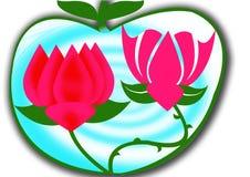 Fond de lotus Photos libres de droits