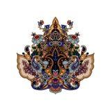 Fond de lotus de Paisley Images stock