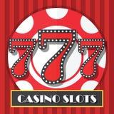 Fond de Lucky Seven Casino Slot Machine, icône Photo libre de droits