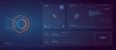 Fond de lumière de ŒBlue de ¼ de Designï d'interface de technologie, effet de technologie, structure, mise en réseau illustration stock