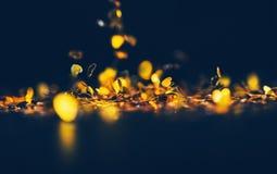Fond de lumière de bokeh de forme de coeur, fond de coeur d'amour Photographie stock libre de droits
