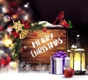Fond de lumière d'arbre de Noël Photographie stock libre de droits